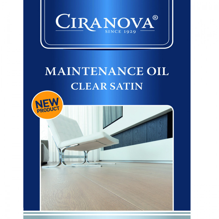 Ciranova Maintenance Oil - Clear Satin (1 litre)