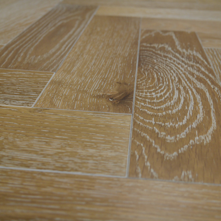 Developer Oak Smoked White Herringbone/Parquet