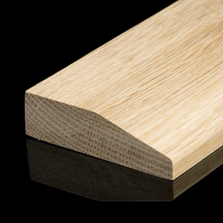 Solid Oak Chamfered Skirting Pack