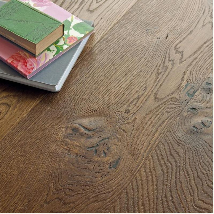 Old Terrain Hand Sculpted Knot Oak Wood Floor
