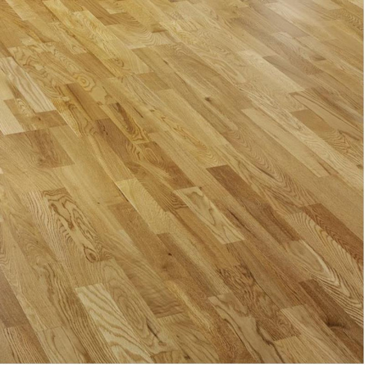 Riviera Oak Lacquered 3 Strip Flooring