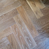 Schoolhouse Smoked & White Oiled Oak Herringbone/Parquet