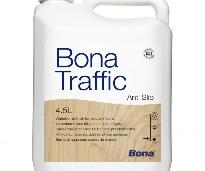 Bona Traffic Anti Slip 4.95L 4.5L and 0.45L Hardener