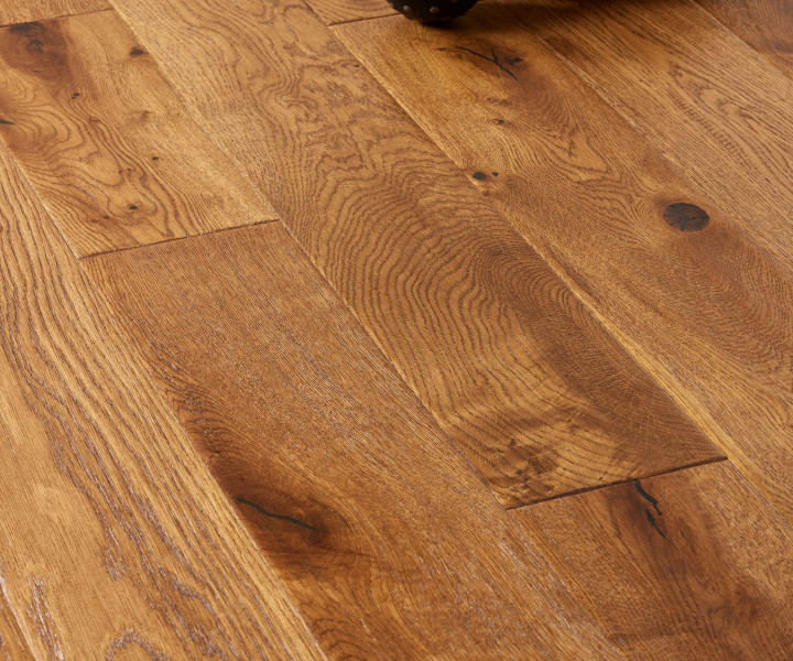 Brooks Floor - Blenheim Multi-Ply Oak Hanscraped  Stained Lacquered Rustic Distressed Character Grade M2004