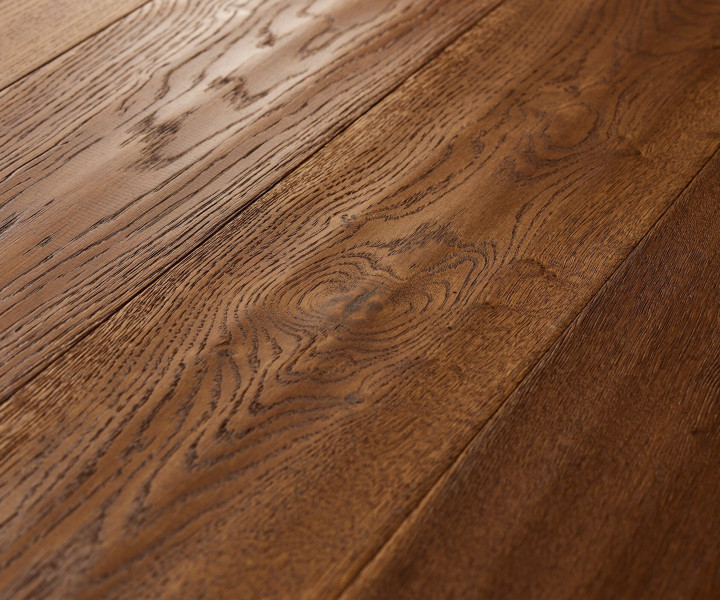 Brooks Floor -Balmoral Engineered Oak Handscraped Cognac Stained Oiled T&G E2005A