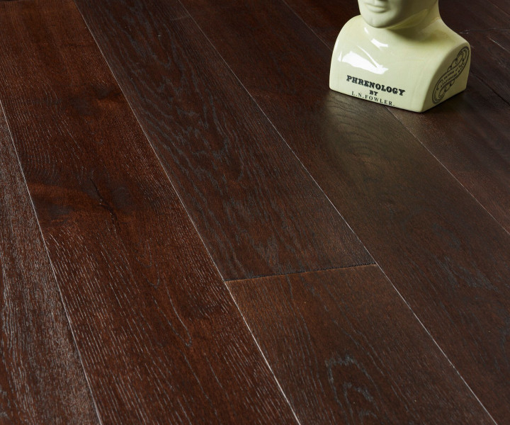 Brooks Floor -Balmoral Engineered Oak Handscraped Chocolate Stained Oiled T&G E2006A