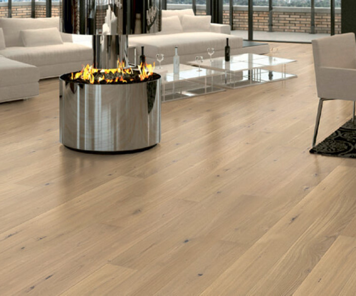 Brooks Floor -Engineered Oak SNOW Lightly Brushed Matt Oiled