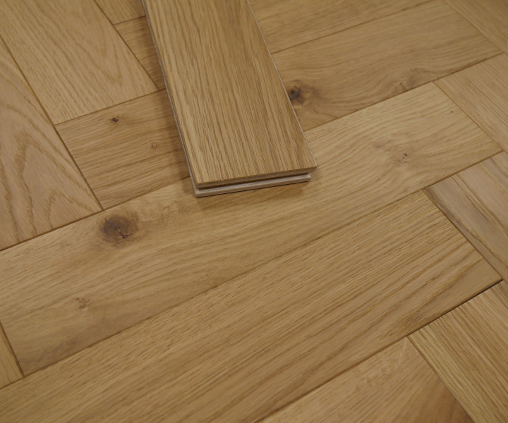 Developer Oak Brushed & UV Oiled Herringbone/Parquet