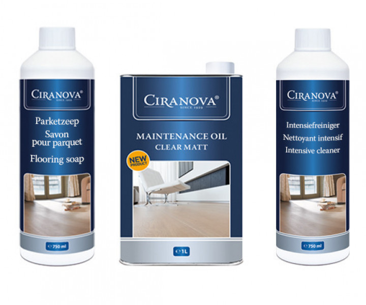Ciranova Maintenance Kit for Oiled Floors (Clear Matt)