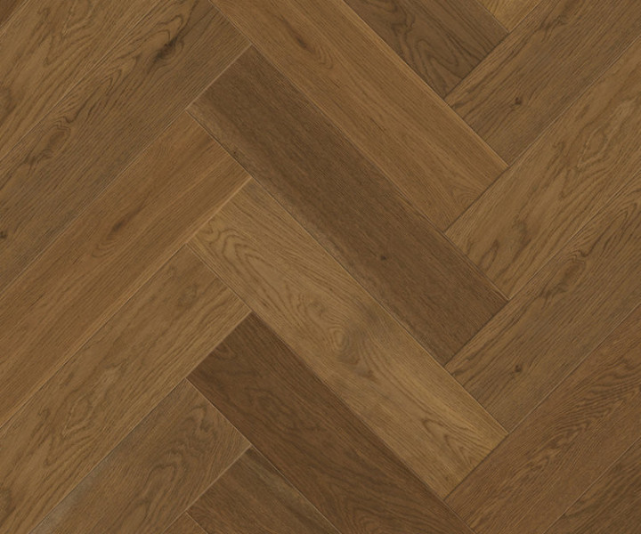 Urban Design Parquet - Engineered Herringbone Brushed & Smoked Oak