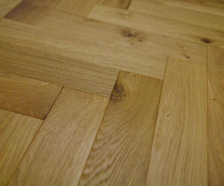 Schoolhouse Brushed & Oiled Oak Herringbone/Parquet