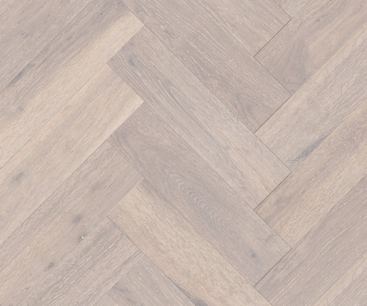 Urban Design - Herringbone Click Fit Parquet - White