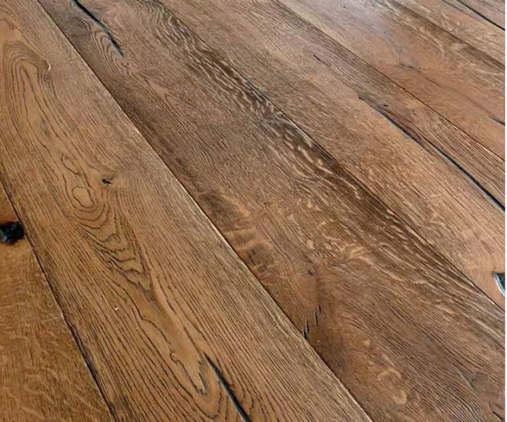 Campania Oak Brushed & Distressed Tan Brown