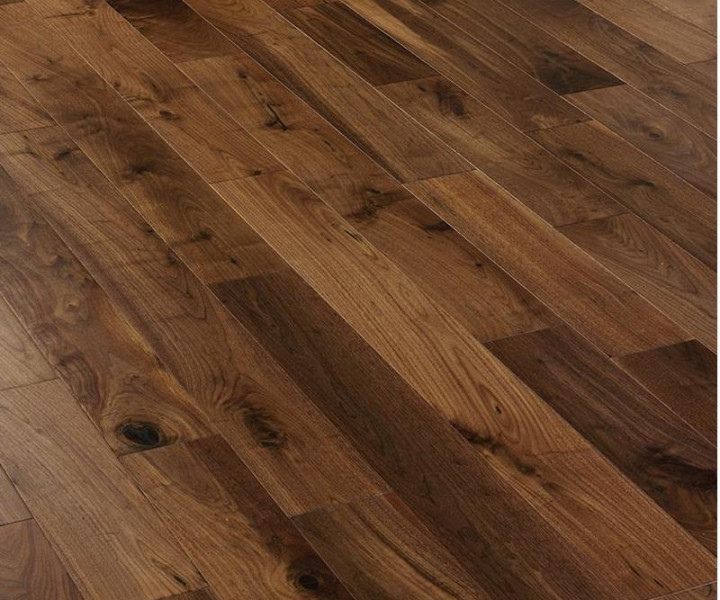 Riviera Walnut Engineered Wood Floor Lacquered