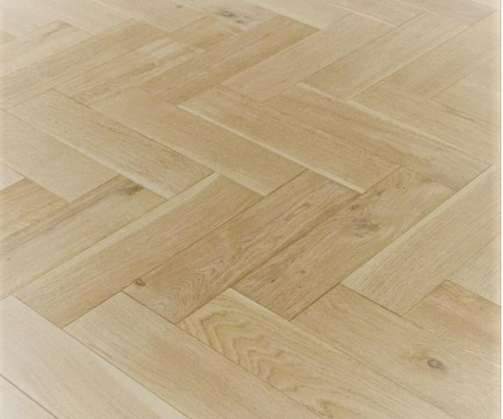 Furlong Herringbone Oak Scandic White Brushed & UV Oiled