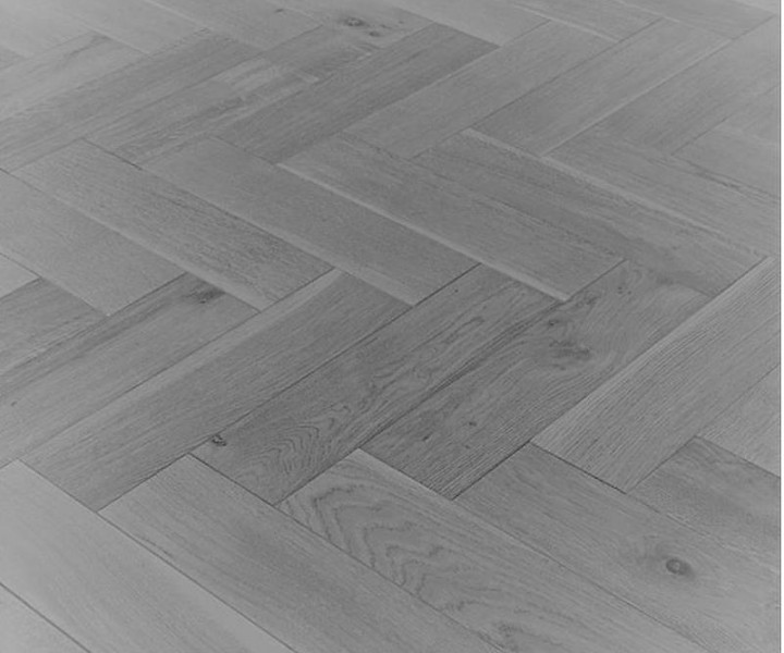 Furlong Herringbone Light Grey Oak UV Oiled