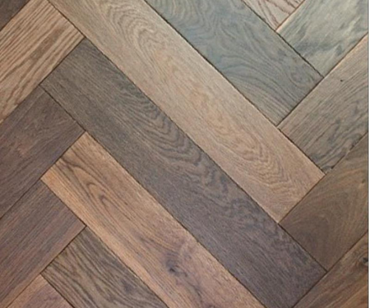 Elka Herringbone Dark Smoked Oak